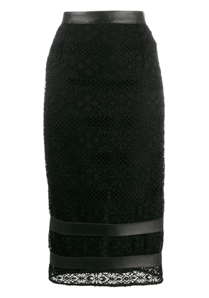 Pinko fitted crochet skirt - Black