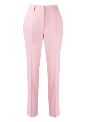 Dolce & Gabbana contrast piped trousers - PINK