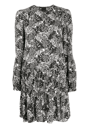Pinko all-over print dress - Black