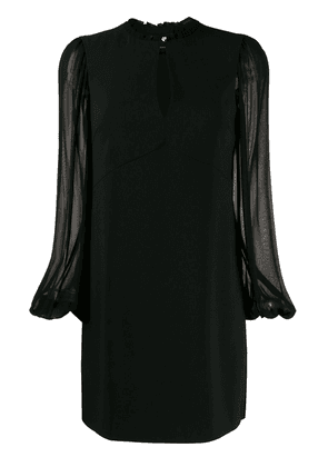 Pinko sheer sleeve shift dress - Black