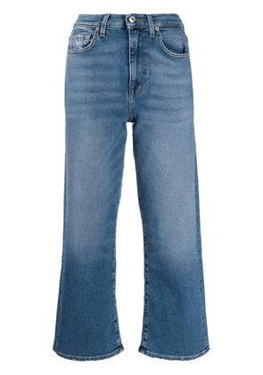 7 For All Mankind straight-leg cropped jeans - Blue
