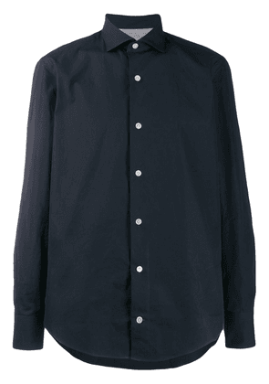 Eleventy long-sleeve fitted shirt - Blue