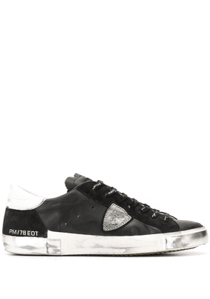 Philippe Model distressed low-top trainers - Black