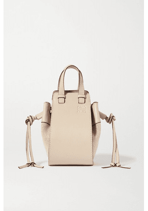 Loewe - Hammock Mini Linen And Textured-leather Shoulder Bag - Off-white