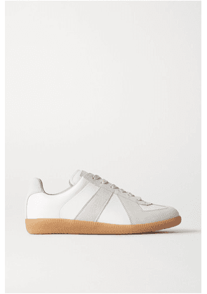 Maison Margiela - Replica Leather And Suede Sneakers - Off-white