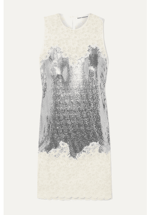 Paco Rabanne - Chainmail And Corded Lace Dress - Silver