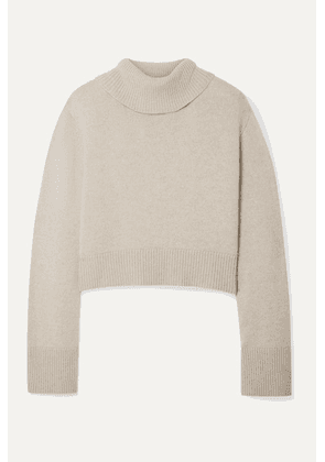 Co - Cropped Cashmere Turtleneck Sweater - Sand