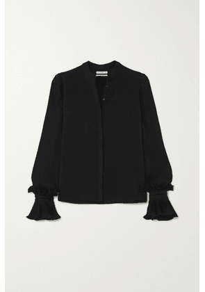 Co - Ruffled Crepe De Chine Blouse - Black