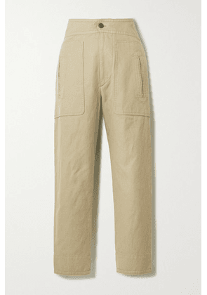 Isabel Marant Étoile - Raluni Cotton And Linen-blend Tapered Pants - Camel