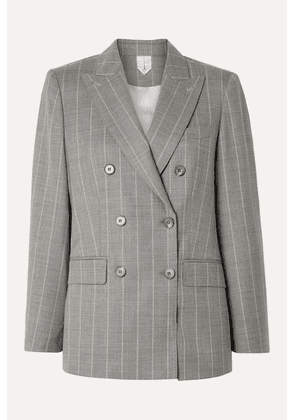 Max Mara - Omero Pinstriped Wool-blend Blazer - Gray