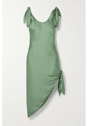 Cult Gaia - Delilah Knotted Satin Dress - Green