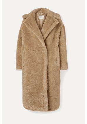 Max Mara - Teddy Icon Metallic Faux Fur Coat - Beige