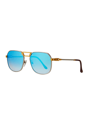 Men's CEO Textured Gold-Plated Gradient Sunglasses