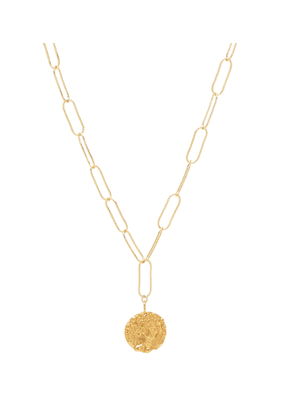 The Tale of Virgil 24kt gold-plated necklace