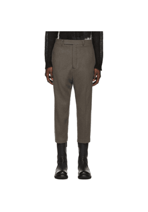 Rick Owens Grey Cropped Astaires Trousers