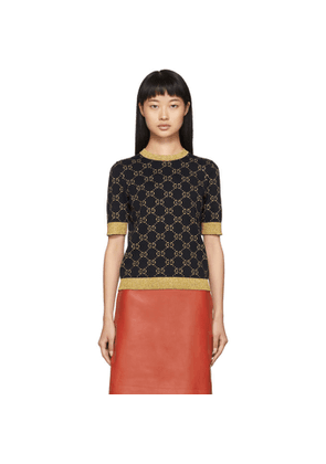 Gucci Black and Gold Lurex GG Sweater