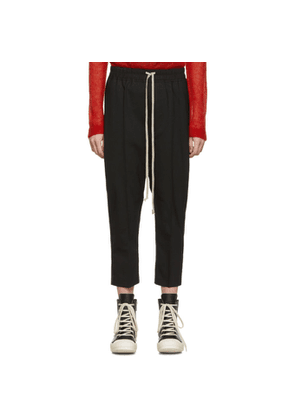 Rick Owens Black Cropped Astaires Trousers