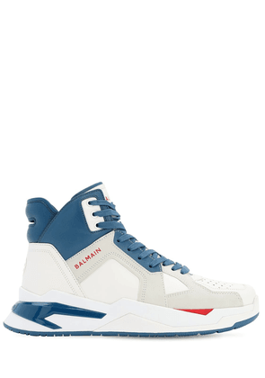 Leather High Top B-ball Sneakers