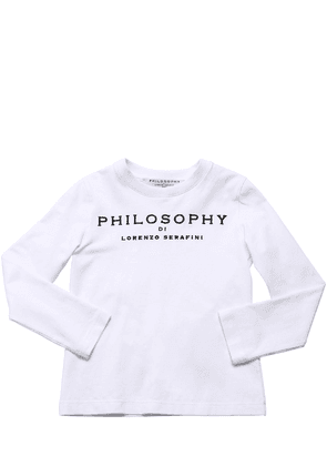 Embroidered L/s Cotton Jersey T-shirt