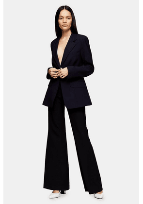 Womens **Navy Fitted Blazer By Topshop Boutique - Navy Blue, Navy Blue
