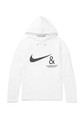 Nike - + Undercover Logo-print Mesh-panelled Jersey Hoodie - White