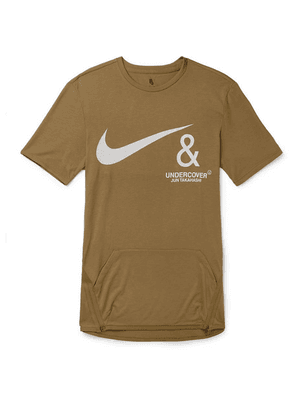 Nike - + Undercover Logo-print Jersey T-shirt - Brown