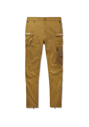 Nike - + Undercover Tapered Logo-print Cotton-blend Trousers - Brown
