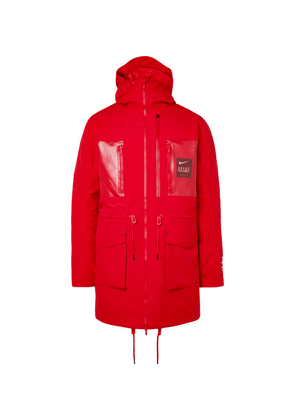 Nike - + Undercover Logo-print Coated-twill Parka With Detachable Quilted Down Liner - Red