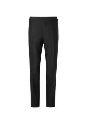 Kingsman - Eggsy's Black Wool And Mohair-blend Tuxedo Trousers - Black