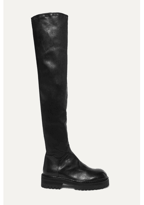 Ann Demeulemeester - Over-the-knee Leather Boots - Black