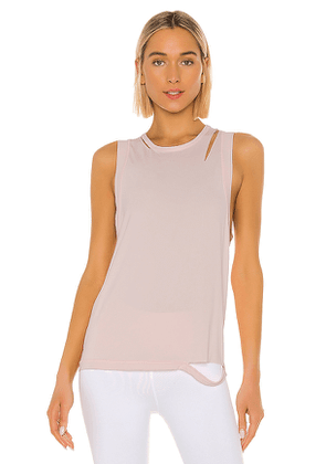 ALALA Carve Tank in Pink. Size M,S,XS.