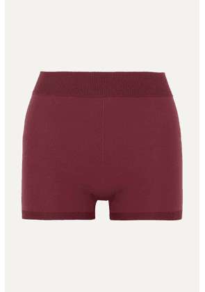 Nagnata - Technical Stretch-organic Cotton Shorts - Burgundy