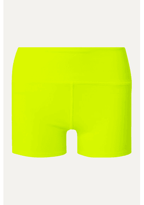 Alo Yoga - Airbrush Neon Stretch Shorts - Bright yellow