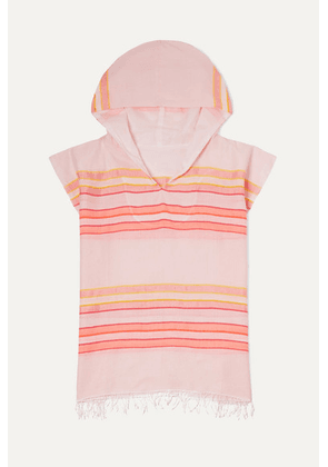 LemLem Kids - Eskedar Frayed Striped Cotton-blend Gauze Poncho - Pink