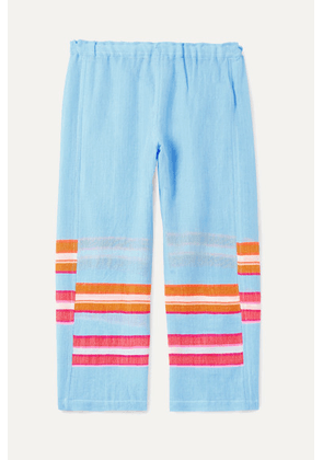 LemLem Kids - Eskedar Striped Cotton-blend Gauze Pants - Blue