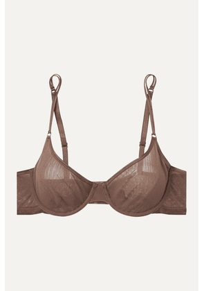 Cosabella - Soiré Confidence Mesh Underwired Soft-cup Bra - Chocolate