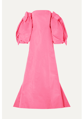 Carolina Herrera - Convertible Off-the-shoulder Silk-twill Gown - Pink