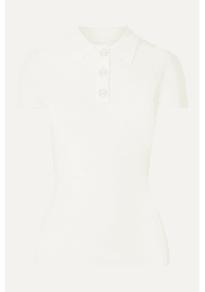 Dion Lee - Density Ribbed-knit Polo Shirt - Ivory