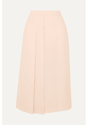 Max Mara - Pleated Cady Midi Skirt - Pink