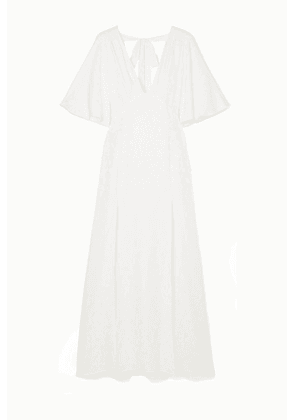 Les Rêveries - Open-back Silk-jacquard Gown - Ivory
