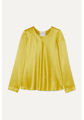forte forte - Washed Silk-satin Top - Lime green