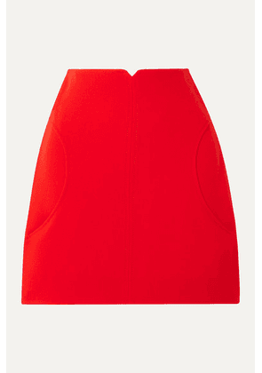 COURREGES - Wool-twill Mini Skirt - Red