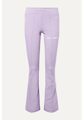Palm Angels - Striped Satin-jersey Track Pants - Lilac