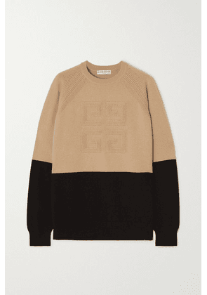 Givenchy - Two-tone Cashmere Sweater - Black