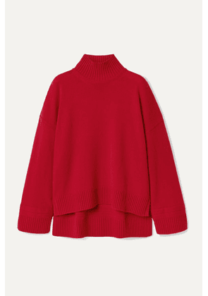 Rosetta Getty - Oversized Cashmere Turtleneck Sweater - Red