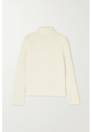 Akris - Ribbed Cashmere And Mulberry Silk-blend Sweater - White