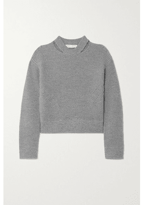 Proenza Schouler White Label - Cutout Ribbed Wool Sweater - Gray
