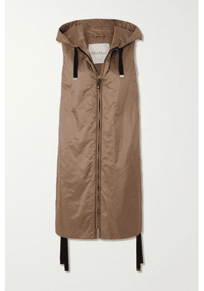 Max Mara - The Cube Hooded Padded Shell Gilet - Camel