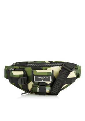 ORION Army Mix Camo Print Nylon Belt Bag with Sporty Finish