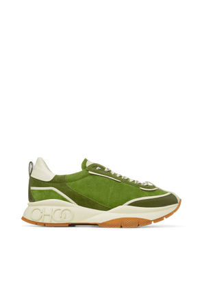 RAINE/M Army Mix Soft Suede and Leather Lace Up Trainers